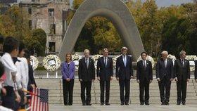 První návštěva šéfa americké diplomacie v Hirošimě: Za shození atomové bomby se Kerry neomluvil.