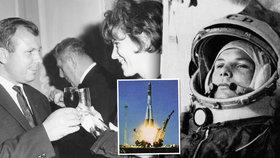 Před 55 lety vyletěl první člověk do vesmíru! Gagarina obdivovala hvězda filmu Gina Lollobrigida i Vlasta Chramostová.