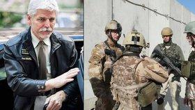 Generál Petr Pavel v Bruselu (vlevo) a v Afghánistánu (vpravo)