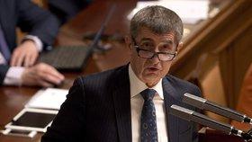 Vicepremiér Andrej Babiš ve Sněmovně
