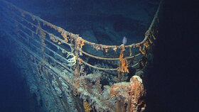 Příď potopeného Titanicu