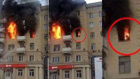 V moskevském bytě uhořela žena zaživa.