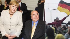 Angela Merkelová a někdejší kancléř Helmut Kohl mají rozdílné názory na migrační krizi.