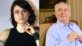 """Chudinka holčička,"" řekl prezident na adresu Lenky Dusilové."