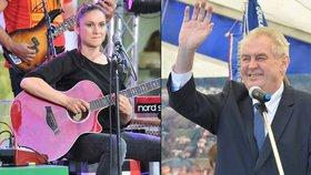 Prezident Miloš Zeman se opět nelichotivě vyjádřil o zpěvačce Lence Dusilové.