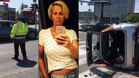Při vážné dopravní nehodě v Bratislavě se zranila fitness trenérka celebrit.