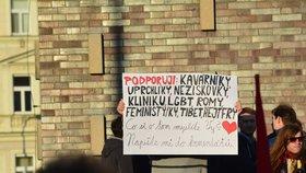 Solidární shromáždění na Jiřího z Poděbrad