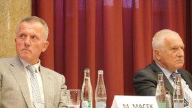 Miroslav Macek a Václav Klaus na semináři k 25. výročí od založení ODS