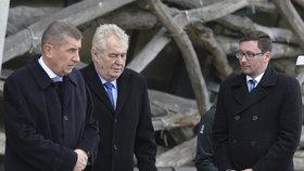 Prezident Zeman přijel v minulosti na Čapí hnízdo Andreje Babiše