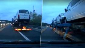 Pekelné ráno si zažil řidič Oto Burger na pražském Černém Mostě. Brzy ráno ho tam na betonová svodidla natlačil bezohledný rumunský kamioňák.