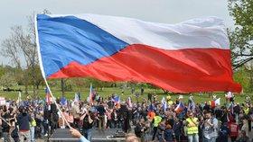 Demonstrace Bloku proti islámu v Praze