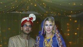 Arif a Lenka Šlemínová v poslední den jejich svatby
