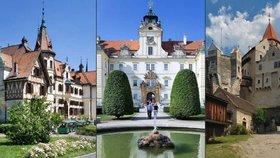 Nejkrásnější hrady a zámky Jihomoravského a Zlínského kraje