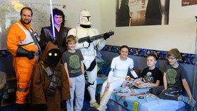 Lukáš oslavil 13. narozeniny se svými oblíbenými filmovými hrdiny.