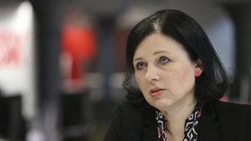 Česká eurokomisařka Věra Jourová