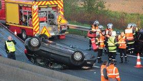 Belgická policie honila pašeráky na dálnici.