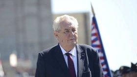 Prezident Miloš Zeman si připomněl 71 let od konce 2. světové války na pražském Vítkově.