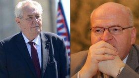 Prezident Miloš Zeman žertem vyplísnil ministra kultury Daniela Hermana (KDU-ČSL). Kvůli Číně.