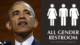 Proti Obamově administrativě protestuje několik amerických států kvůli toaletám pro transgenderové osoby.