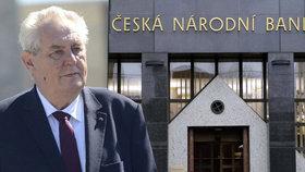 Prezident Miloš Zeman jmenoval dva nové členy bankovní rady ČNB.