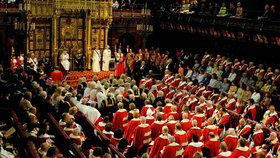 Loňský projev britské královny v parlamentě