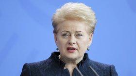 Prezidentka Litvy Dalia Grybauskaiteová v Berlíně