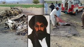 Americký dron zaútočil a zřejmě usmrtil vůdce Talibánu.