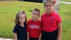 Pětiletá Haley Moore se zastřelila otcovou zbraní před zraky sourozenců.