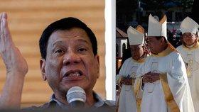 """Filipínský prezident se """"předvedl"""": """"Vy zku*vysyni!"""" nadával biskupům."""