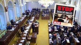 Ve Sněmovně se hlasovalo o novele školského zákona, kterou vetoval prezident republiky Miloš Zeman. A pokud veto poslanci »nepřebijí«, otevřou se dveře k opětovnému jednání o inkluzi!