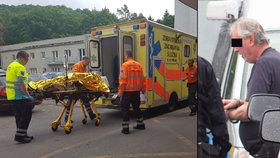 Policie střelce zadržela, zraněný skončil v nemocnici.