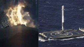 Z vesmíru na planetu Země: NASA zveřejnila video přistání rakety