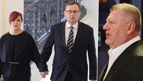 Soud v jedné z větví kauzy Nagyová: Dorazili i Jana Nečasová s manželem Petrem Nečasem a také Ivo Rittig.
