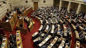 Řecký parlament začne v úterý projednávat vyslovení důvěry kabinetu v souvislosti s vládní krizí kvůli dohodě o názvu sousední Makedonie (ilustrační foot).