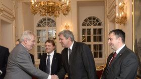 Miroslav Jansta u prezidenta Miloše Zemana