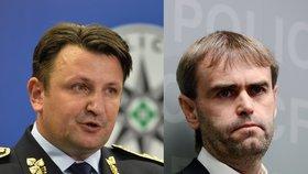 Policejní prezident Tomáš Tuhý a končící šéf protimafiánského útvaru Robert Šlachta