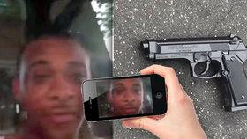 Vražda v přímém přenosu: Muže někdo zastřelil, když živě vysílal na Facebooku.