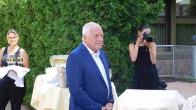 Oslava 75. narozenin Václava Klause na Štvanici