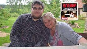 Pavel i jeho maminka Eva Šípová mají důvod k úsměvu. Mladík, který má mozkovou obrnu, to dotáhl až na studium práv.