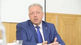 Ministr vnitra Milan Chovanec (ČSSD) při rozhovoru pro Blesk