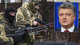 Porošenko se prý při cestě na Donbas dostal do přestřelky.