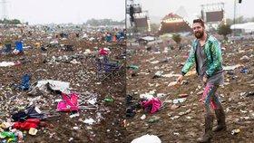 Po Glastonbury už posbírali půl milionu pytlů s odpadky.
