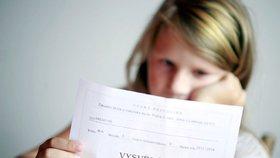 Děti se už tolik nebojí výprasku kvůli špatnému vysvědčení. (Ilustrační foto)