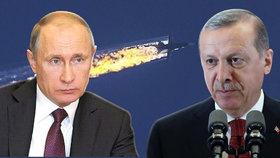 Putin po rozhovoru s Erdoganem vybídl k normalizaci vztahů.