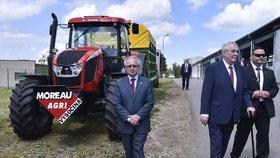 Prezident Miloš Zeman předloni strávil tři dny na návštěvě Vysočiny. Prohlédl si i kravín v Nové Vsi