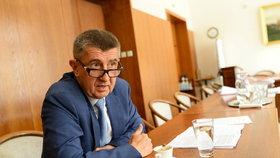 Vicepremiér Andrej Babiš při rozhovoru pro Blesk