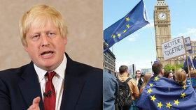 Boris Johnson se pustil do Britů, kteří protestují proti brexitu.