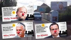 """Billboardy a plakáty u cest: Aktivisté začínají boj proti ˆ""""zatmívačům"""" smluv"""