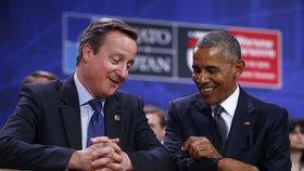 Summit NATO ve Varšavě: David Cameron s Barackem Obamou