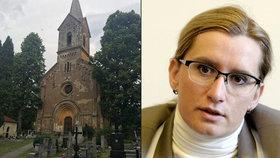 Ministryni Karlu Šlechtovou prý farář nepustil do kostela kvůli jejímu postoji ke zdanění církevních restitucí.